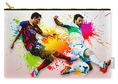 Lionel Messi Of Fc Barcelona Carry-all Pouch