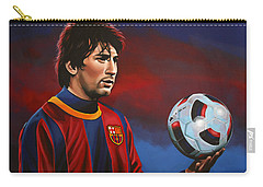 Lionel Messi 2 Carry-all Pouch by Paul Meijering
