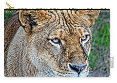 Lioness Deep In Thought Hdr Carry-all Pouch