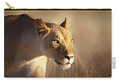Lioness Portrait-1 Carry-all Pouch