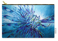 Lionfish Abstract Blue Carry-all Pouch