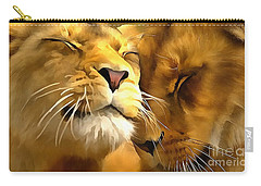 Lions In Love Carry-all Pouch by Catherine Lott