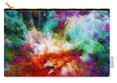 Carry-all Pouch featuring the digital art Liquid Colors - Enamel Edition by Lilia D
