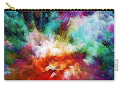 Carry-all Pouch featuring the painting Liquid Colors - Original by Lilia D