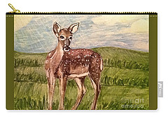 Carry-all Pouch featuring the painting Listening To The Creator's Voice by Kimberlee Baxter