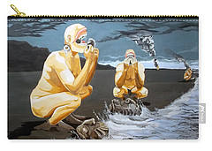 Carry-all Pouch featuring the painting Lithophagus Listen With Music Of The Description Box by Lazaro Hurtado