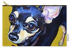 Little Bitty Chihuahua Carry-all Pouch by Rebecca Korpita