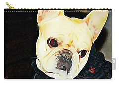 Carry-all Pouch featuring the painting Little Black Sweater by Barbara Chichester