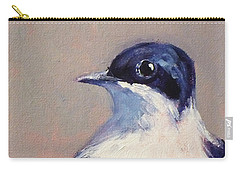 Little Blue And White Carry-all Pouch
