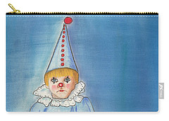 Little Blue Clown Carry-all Pouch