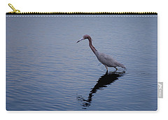 Carry-all Pouch featuring the photograph Little Blue Heron On The Hunt by John M Bailey