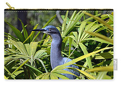 Carry-all Pouch featuring the photograph Little Blue Heron by Robert Meanor