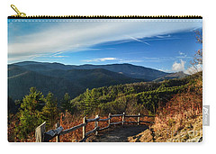 Carry-all Pouch featuring the photograph Little Cataloochee Overlook In Summer by Debbie Green