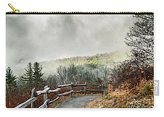 Carry-all Pouch featuring the photograph Little Cataloochee Overlook In The Great Smoky Mountains by Debbie Green