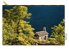 Little Chapel In Ticino With Beautiful Green Trees Carry-all Pouch by Matthias Hauser