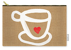 Little Cup Of Love Carry-all Pouch by Linda Woods