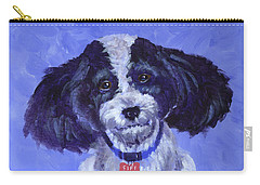 Little Dog Blue Carry-all Pouch