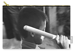 Carry-all Pouch featuring the photograph Little Drummer by Michelle Meenawong