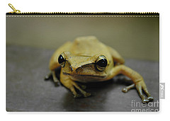 Carry-all Pouch featuring the photograph Little Frog by Michelle Meenawong