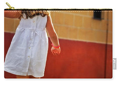 Little Girl In White Dress Carry-all Pouch