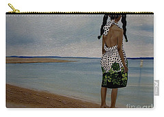 Little Girl On The Beach Carry-all Pouch