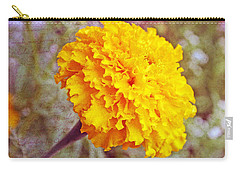 Carry-all Pouch featuring the photograph Little Golden  Marigold by Kay Novy