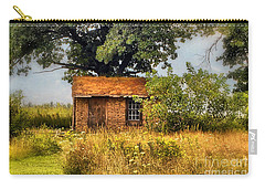 Carry-all Pouch featuring the photograph Little House On The Prairie by Peggy Franz