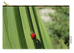 Carry-all Pouch featuring the photograph Ladybird by Cheryl Hoyle