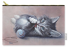 Carry-all Pouch featuring the painting Little Mischief by Cynthia House