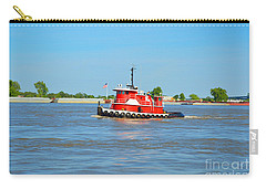 Little Red Boat On The Mighty Mississippi Carry-all Pouch by Alys Caviness-Gober