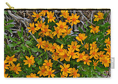 Carry-all Pouch featuring the photograph Little Sunflower In The Mountains by Janice Rae Pariza