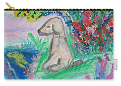 Carry-all Pouch featuring the painting Little Sweet Pea by Diane Pape