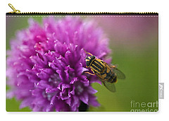 Carry-all Pouch featuring the photograph Little Visitor by Liz  Alderdice