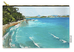 Carry-all Pouch featuring the painting Litttle Cove Beach Noosa Heads Queensland Australia by Chris Hobel
