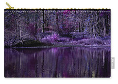 Living In A Purple Dream Carry-all Pouch by Linda Unger