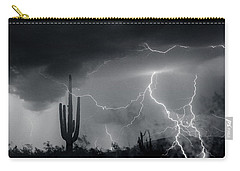 Carry-all Pouch featuring the photograph Living In Fear by J L Woody Wooden