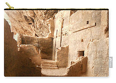 Carry-all Pouch featuring the photograph Living In The Rocks by Kerri Mortenson