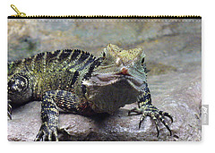 Carry-all Pouch featuring the photograph Lizzie's Gaze by Lingfai Leung