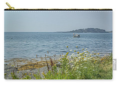 Carry-all Pouch featuring the photograph Lobster Boat At Rest by Jane Luxton