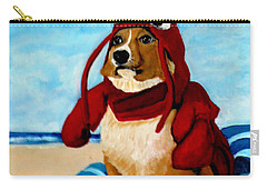 Lobster Corgi On The Beach Carry-all Pouch