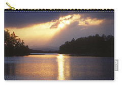 Carry-all Pouch featuring the photograph Loch Insh - Winter Sunset by Phil Banks