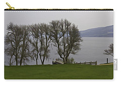 Loch Ness And Boat Jetty Next To Urquhart Castle Carry-all Pouch by Ashish Agarwal