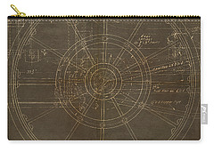 Locomotive Wheel Carry-all Pouch by James Christopher Hill