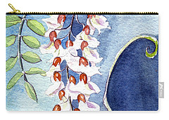 Locust Bloom Carry-all Pouch by Katherine Miller