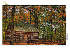 Log Cabin In Autumn Color Carry-all Pouch