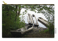 Carry-all Pouch featuring the photograph Log Canoes by Kerri Mortenson