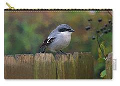 Loggerhead Shrike On Garden Fence Carry-all Pouch