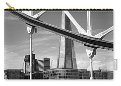 Carry-all Pouch featuring the photograph London Bridge With The Shard by Chevy Fleet