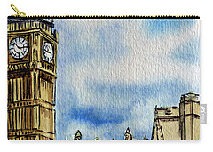 London England Big Ben Carry-all Pouch by Irina Sztukowski