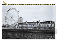 London Eye Mono Carry-all Pouch by Jasna Buncic